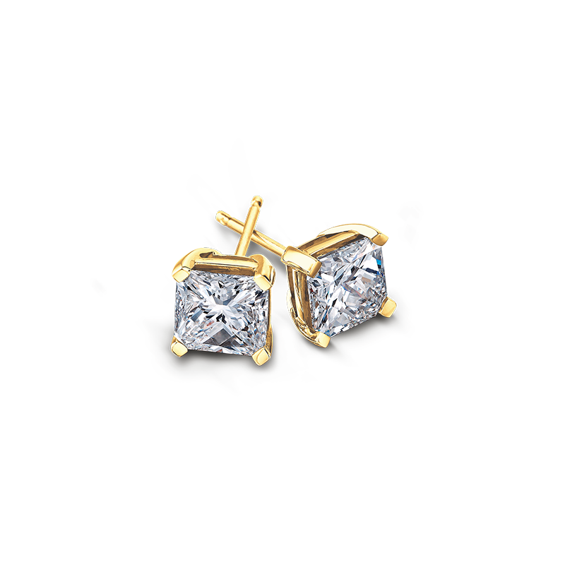 My Girl Diamond Studs in Yellow Gold