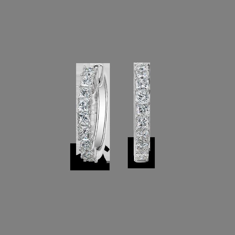 Shimansky Claw Set My Girl Diamond Huggie Earrings