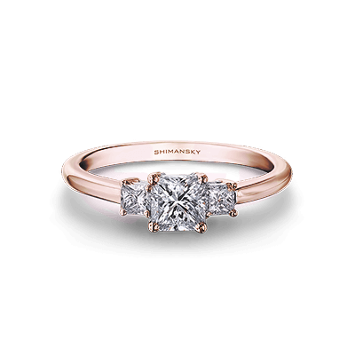 My Girl Diamond Trilogy Ring 18K Rose Gold | Shimansky