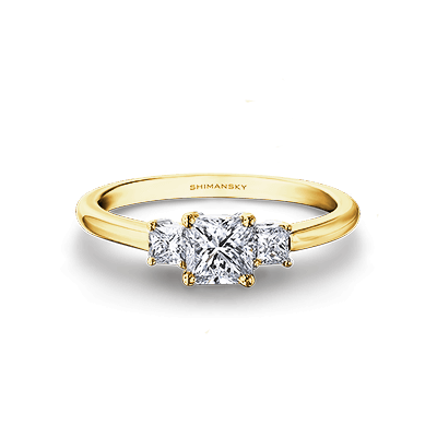 My Girl Diamond Trilogy Ring 18K Yellow Gold   Shimansky