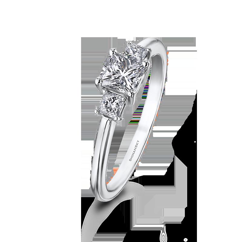 Shimansky My Girl Diamond Claw Set Trilogy Ring
