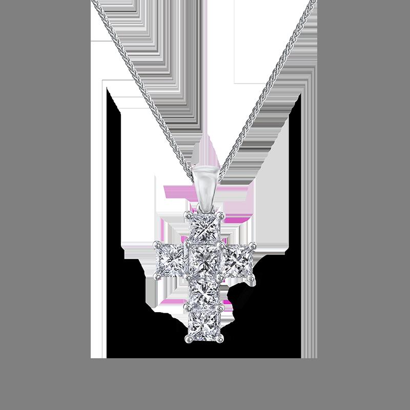 Shimansky My Girl Diamond Cross Pendant