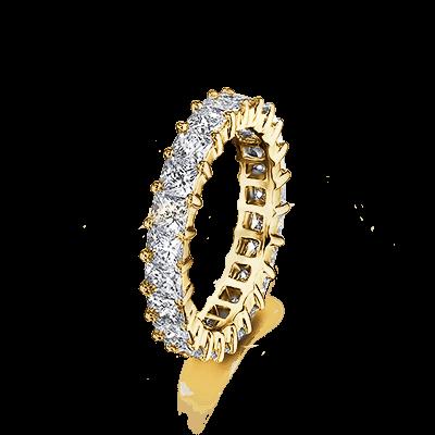 My Girl Trilogy Diamond Ring 18K Yellow Gold | Shimansky