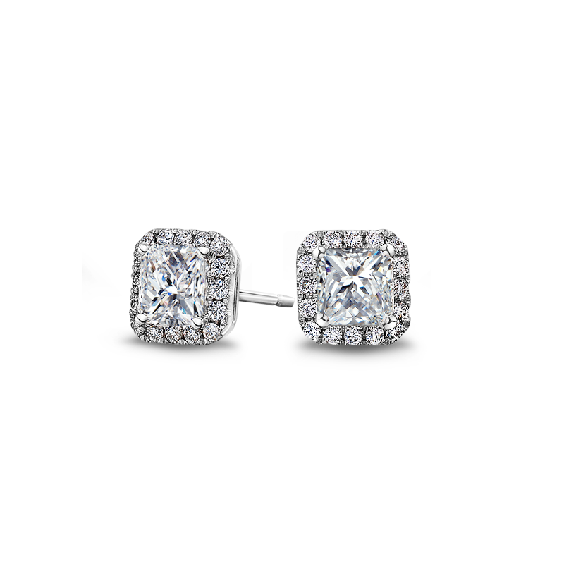 Shimansky My Girl Diamond Halo Earrings