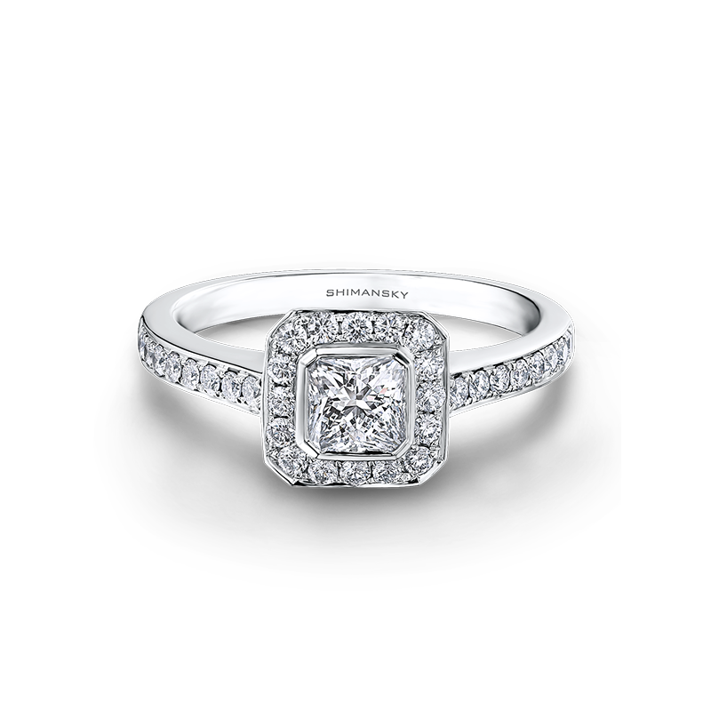 Shimansky My Girl Halo Engagement Ring with Pave Diamonds