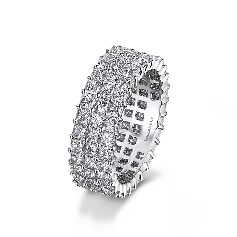 Shimansky My Girl Diamond Triple Row Full Eternity Anniversary Ring
