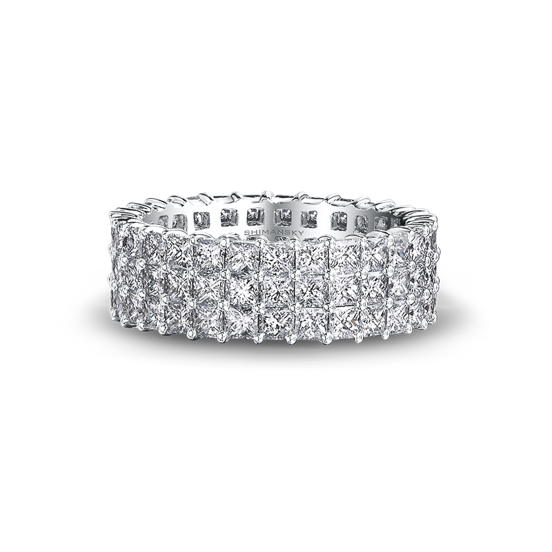 Shimansky My Girl Diamond Triple Row Full Eternity Anniversary Ring