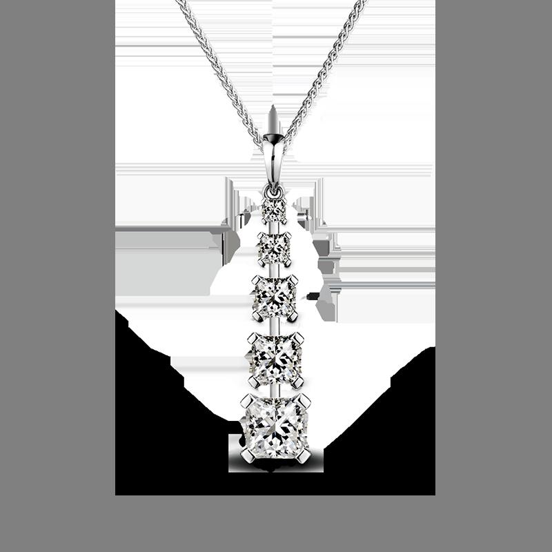 Shimansky My Girl Diamond Graduating Drop Pendant