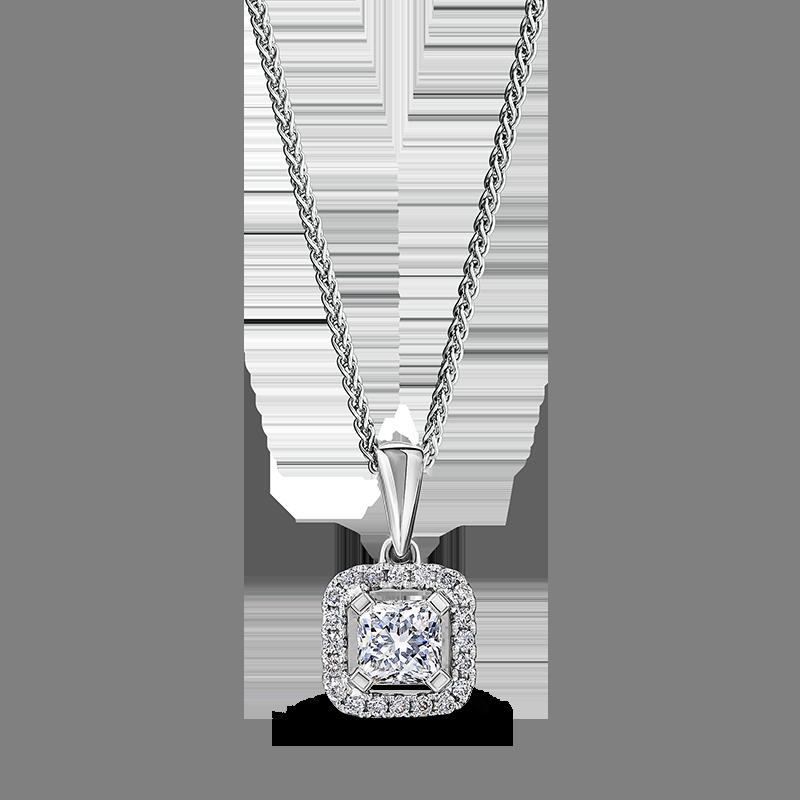 Shimansky My Girl Diamond Halo Pendant