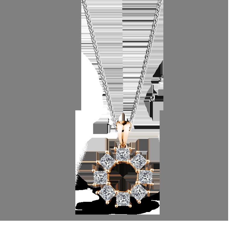 My Girl Lucky 8 Diamond Pendant set in 18K Rose Gold