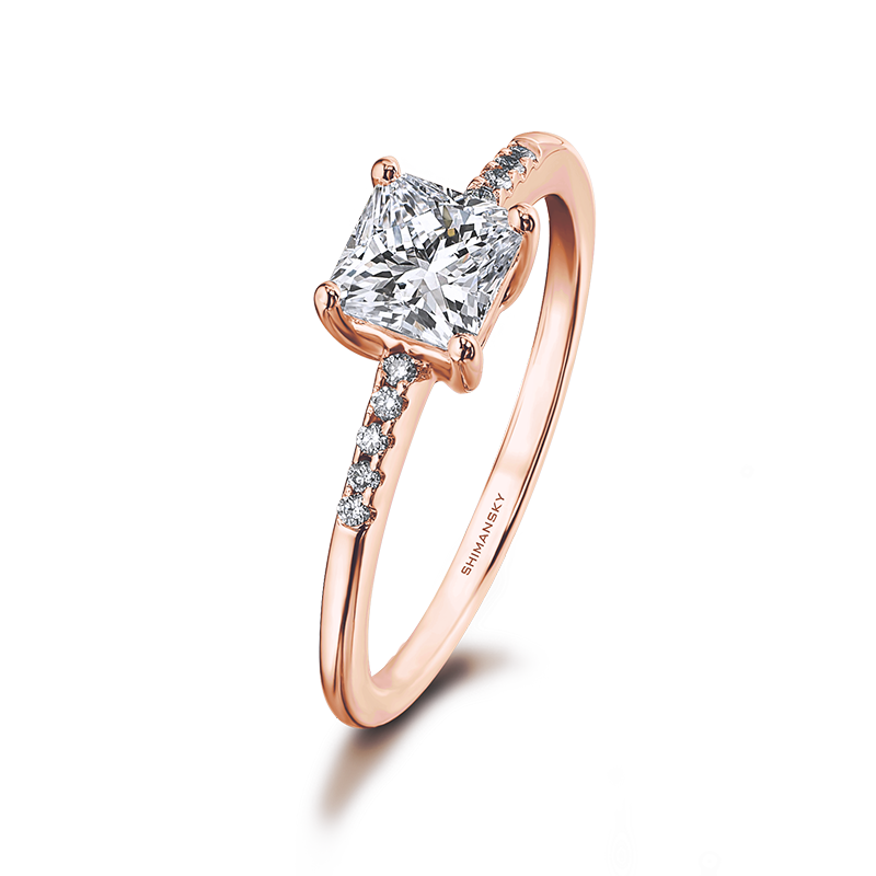 Shimansky My Girl Engagement Ring with micro set Diamonds on the Shank