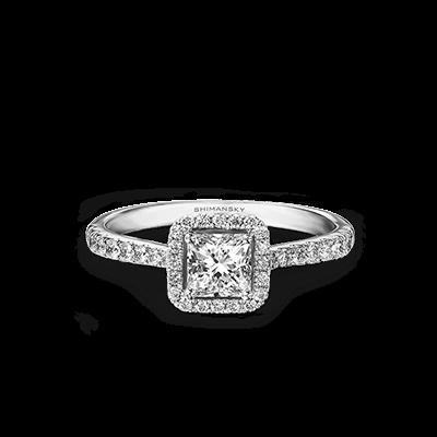 My Girl Diamond Halo Ring 18K White Gold | Shimansky