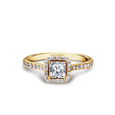 My Girl Diamond Halo Ring 18K Yellow Gold | Shimansky