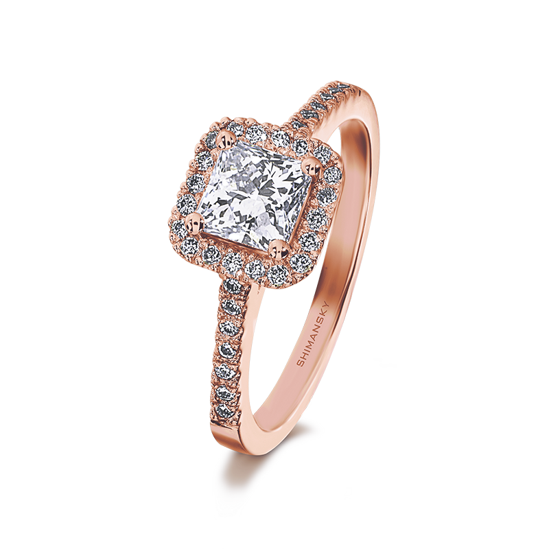 Shimansky My Girl Halo Diamond Engagement Ring