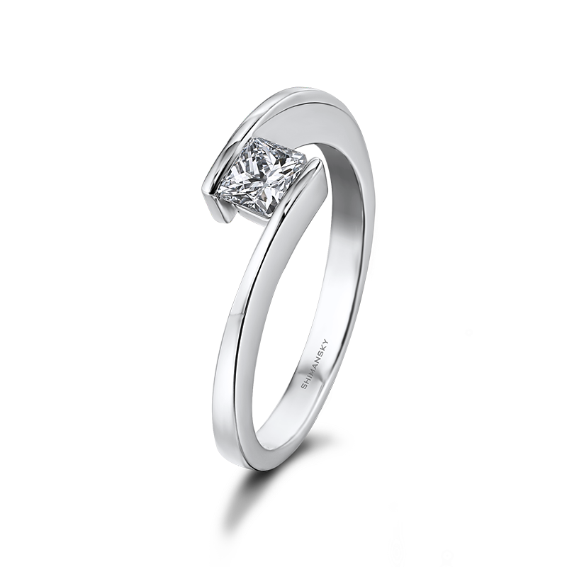 Shimansky My Girl Solitaire Overlap Engagement Ring