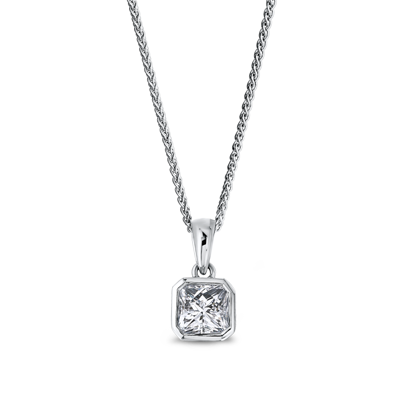 Shimansky My Girl Tube Set Solitaire Diamond Pendant
