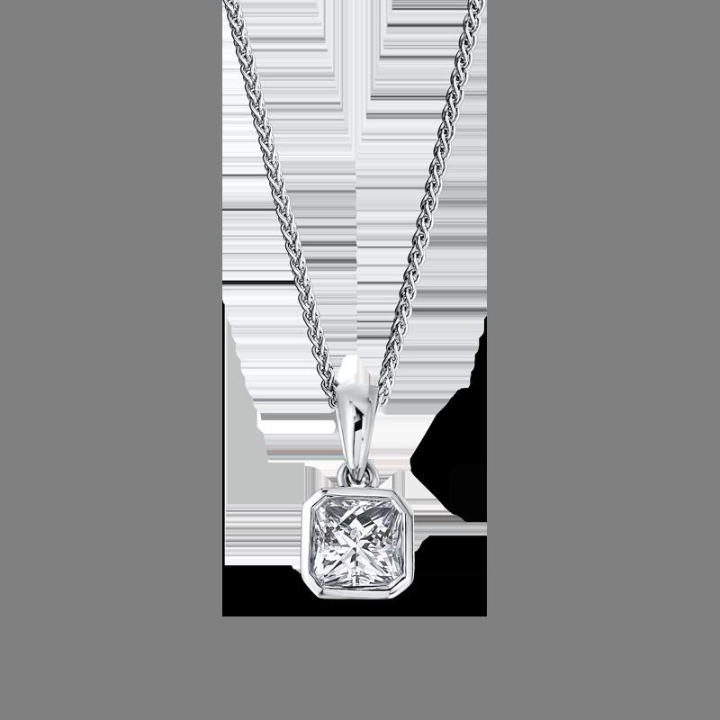Shimansky My Girl Tube Set Solitaire Diamond Pendant