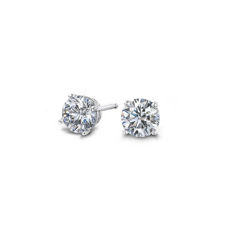 Round Brilliant Cut Diamond Earrings Shimansky