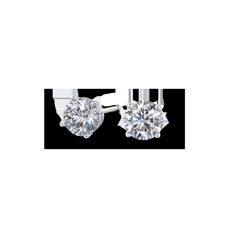 b69a9cf45 Diamond Claw Set Stud Earrings | Shimansky