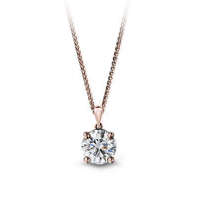 Solitaire Diamond Pendant 18K Rose Gold | Shimansky