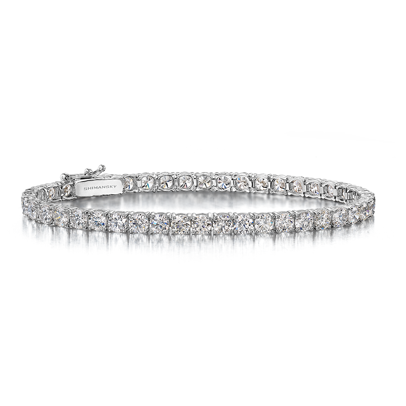 Round Brilliant Cut Diamond Tennis Bracelet
