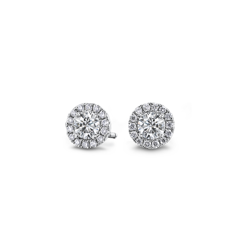 Shimansky Halo Diamond Earrings