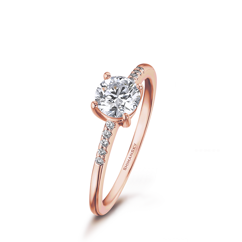 Rose Gold Micro Set Diamond Ring