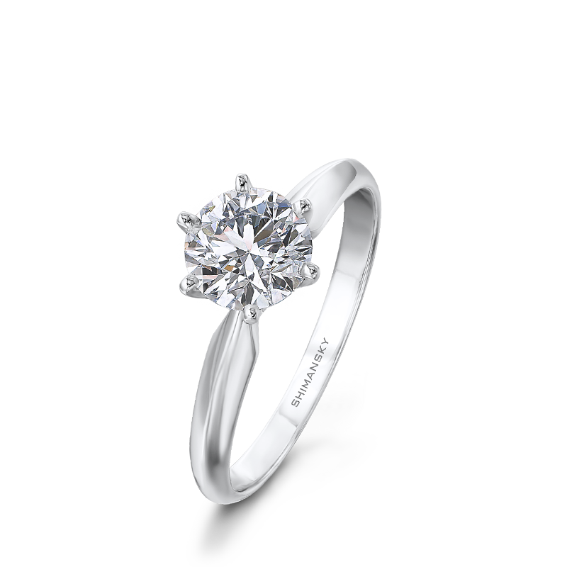 6 Claw Round Brilliant Solitaire | Shimansky