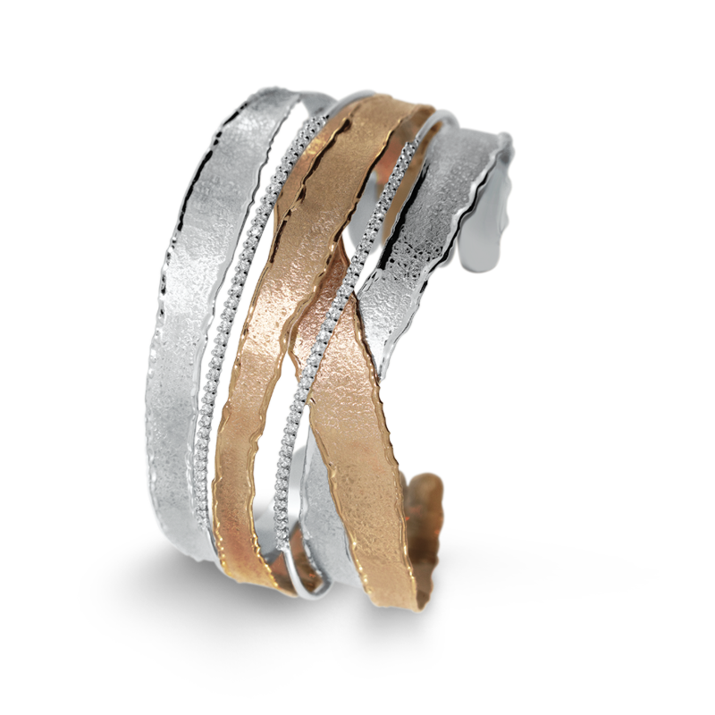Shoreline Hama Two Tone Diamond Cuff
