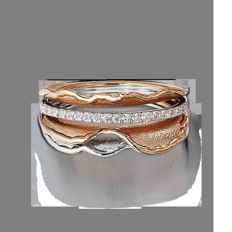 Shoreline Maya Rose Gold and Diamond Ring