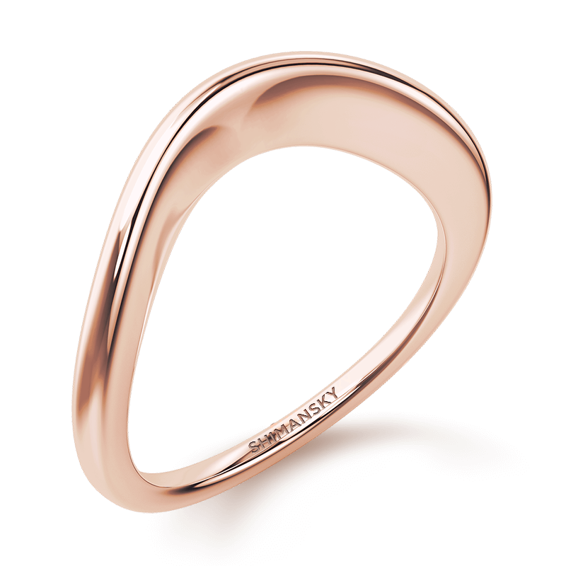 Silhouette plain band | 18k rose gold | Shimansky