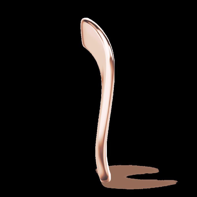Silhouette plain band 18k rose gold | Shimansky