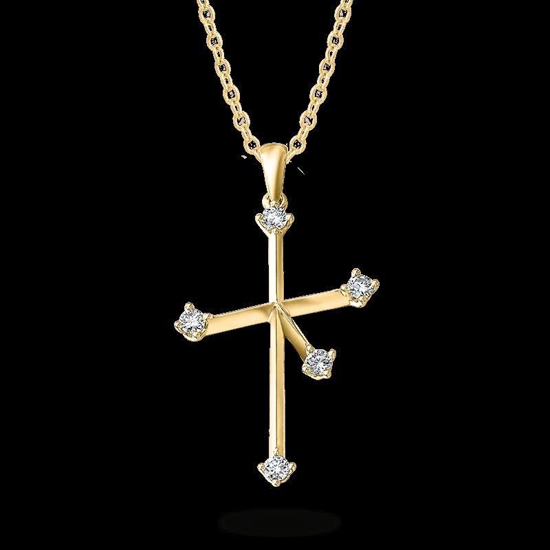 Southern Cross Diamond Pendant Yellow Gold Shimansky
