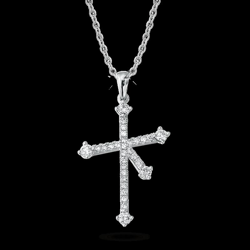 Southern Cross Diamond Micro Set Pendant In White Gold Shimansky