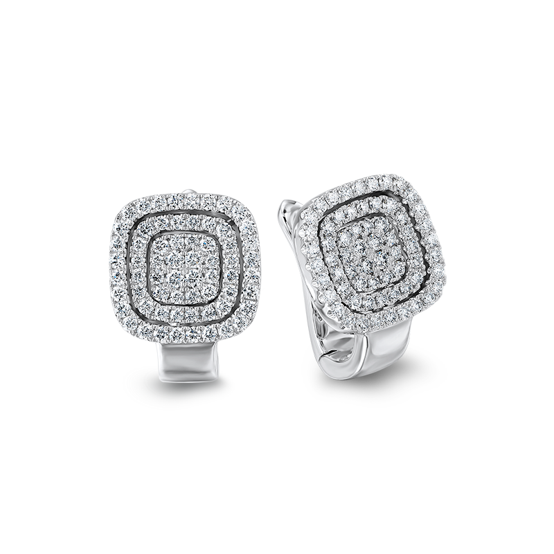 Shimansky Starlight Cushion Shape Diamond Earrings