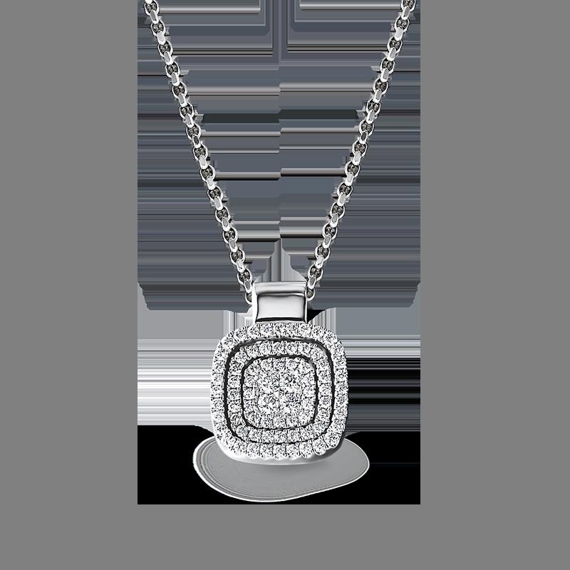 Shimansky Starlight Cushion Shape Diamond Pendant