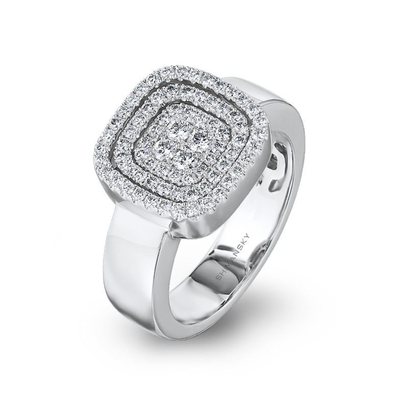 Shimansky Starlight Cushion Shape Diamond Ring
