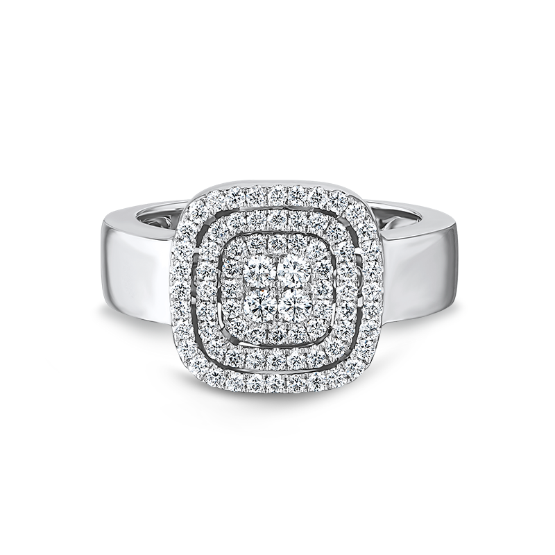 Shimansky Starlight Cushion Shape Diamond Ring