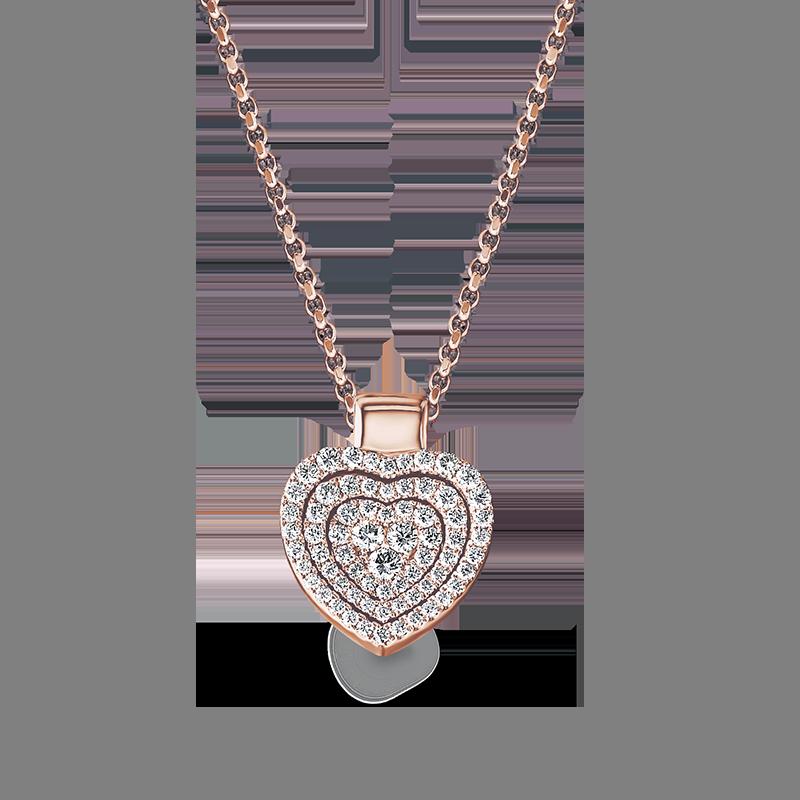 Shimansky Starlight Heart Shape Diamond Pendant
