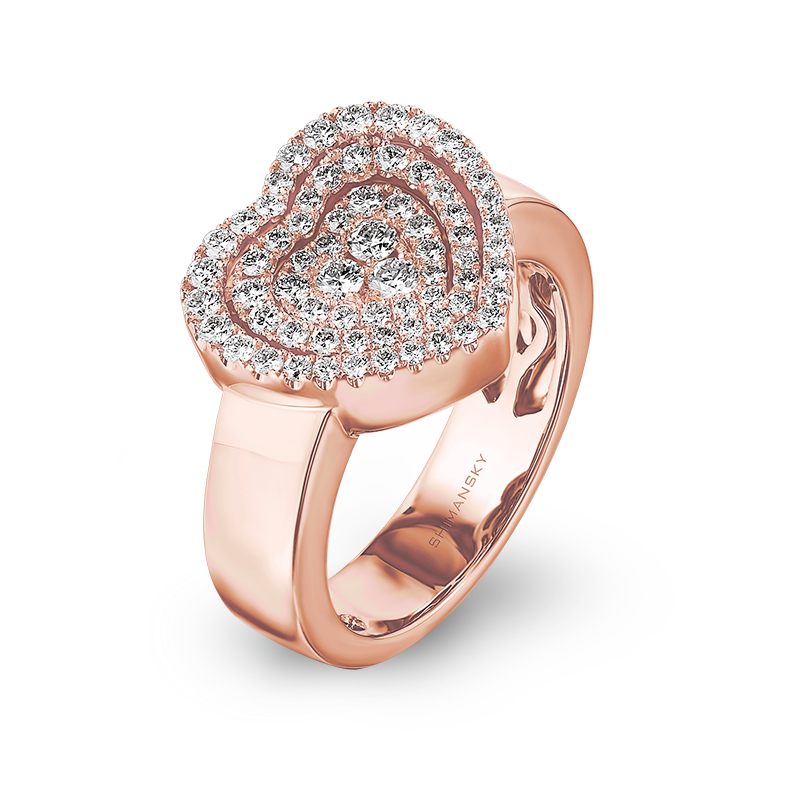 Shimansky Starlight Heart Shape Diamond Ring