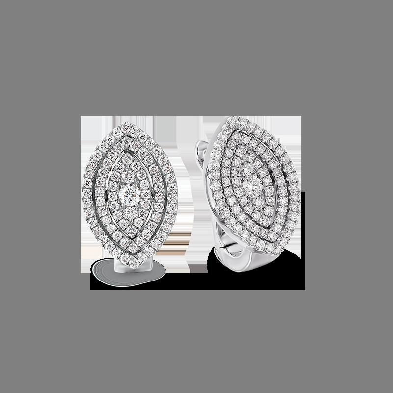 Shimansky Starlight Marquise Shape Diamond Earrings