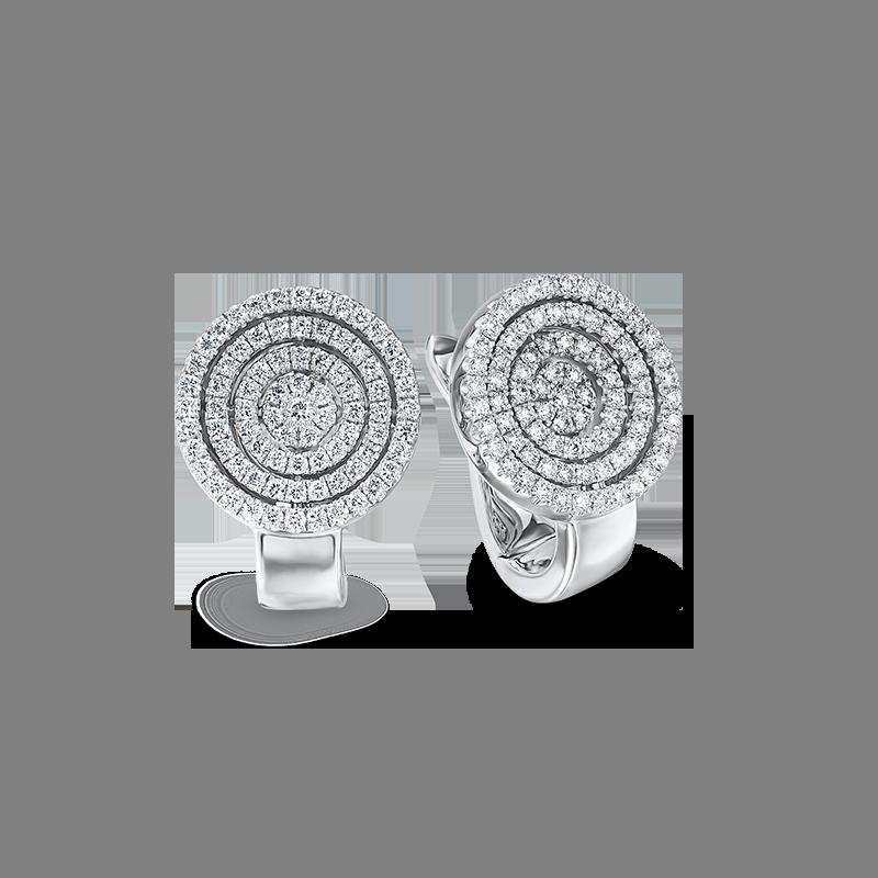 Shimansky Starlight Round Shaped Diamond Earrings