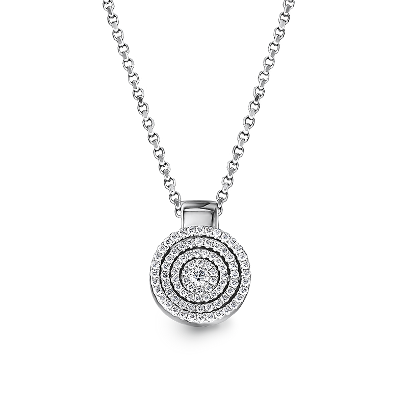 Shimansky Starlight Round Shape Diamond Pendant