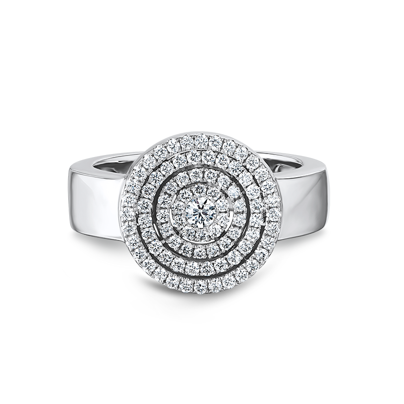 Shimansky Starlight Round Shape Diamond Ring
