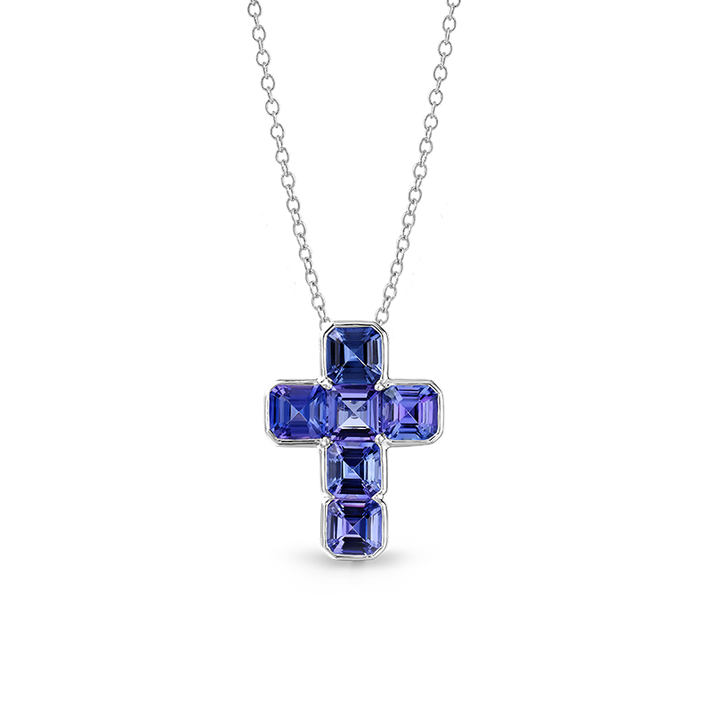 Shimansky Tanzanite Cross Pendant