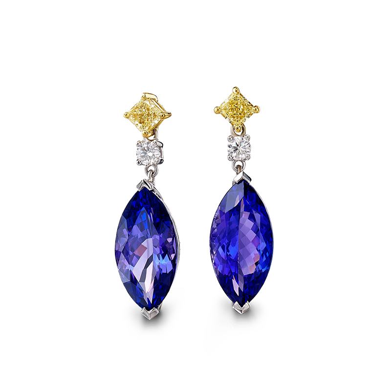 04-marquise-tanzanite-and-cushion-fancy-yellow-diamond-drop-earrings