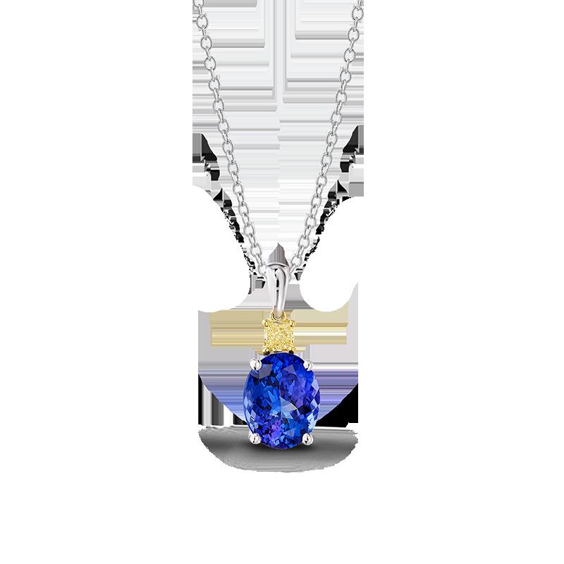 08-oval-tanzanite-and-fancy-yellow-diamond-drop-pendant