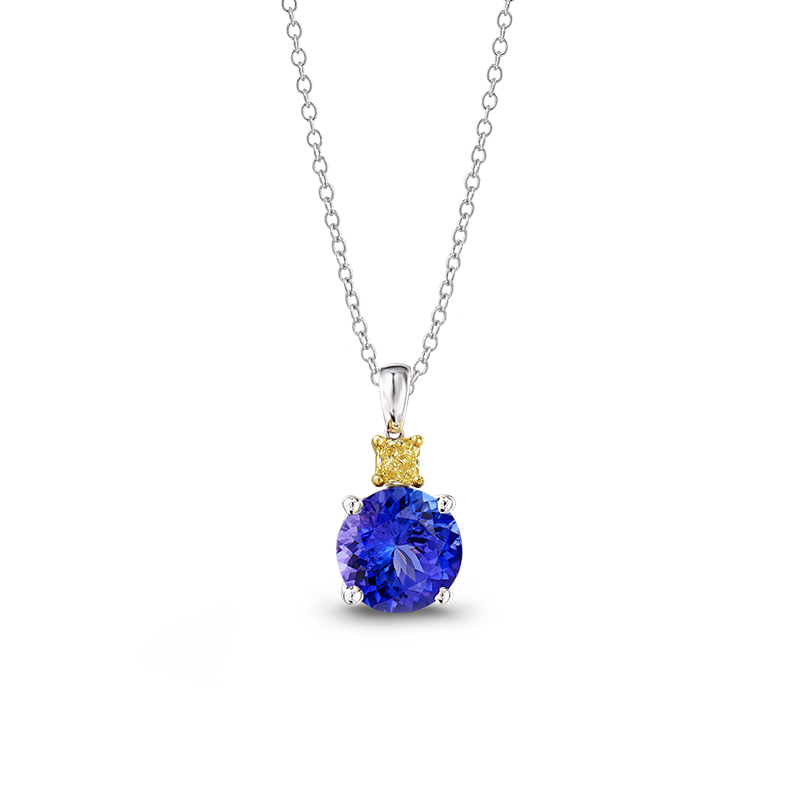 01-round-tanzanite-and-fancy-yellow-diamond-drop-pendant