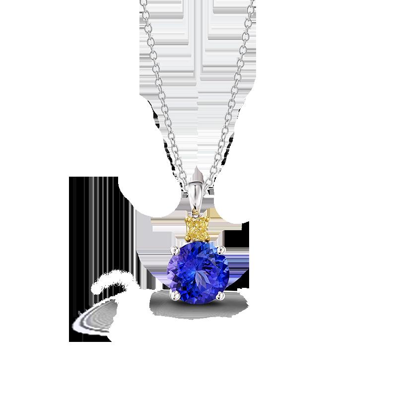 01-round-tanzanite-and-fancy-yellow-diamond-drop-pendant