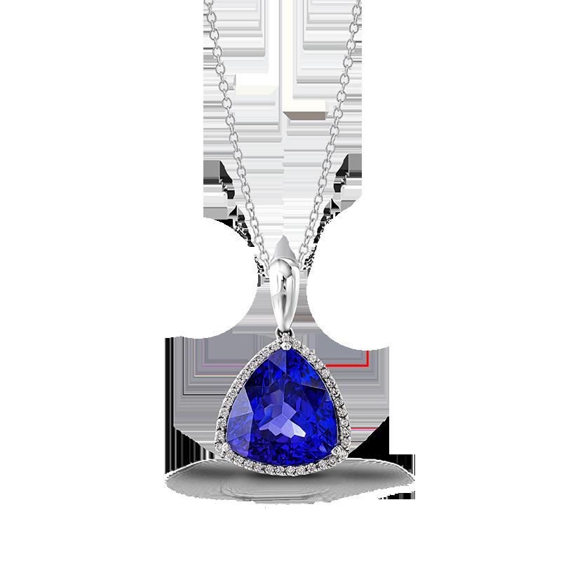 12-trilliant-tanzanite-and-micro-set-diamond-halo-pendant